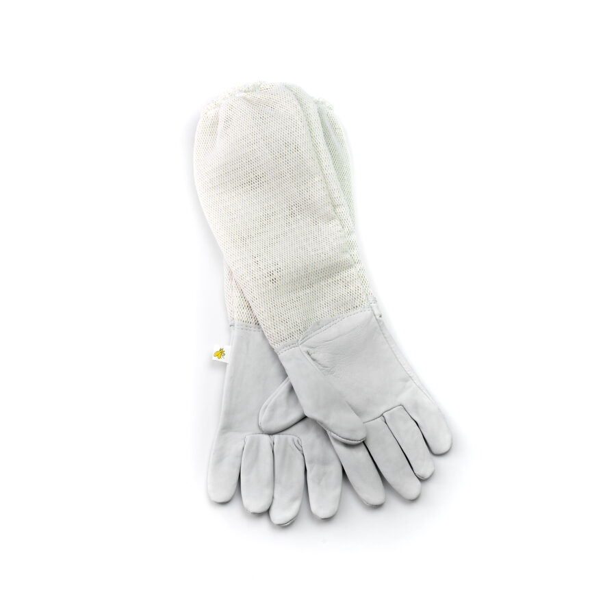 Beekeeping gloves with triple cuffs