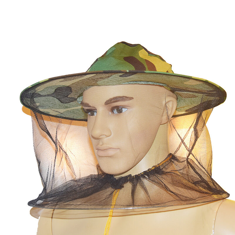 Beekeeper's hat with veil, camouflage